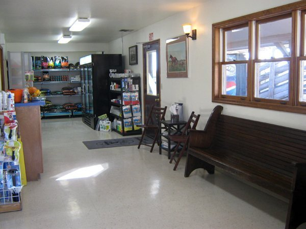 A view of the waiting area and product display areas