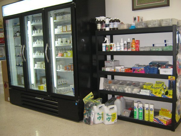 The product display areas in the clinic